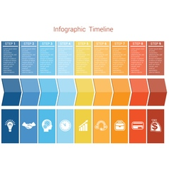 Timeline 9 options vector image vector image