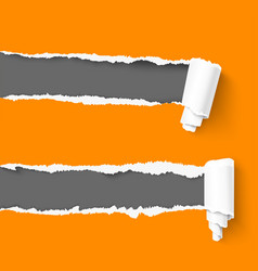 Torn paper with a roll vector