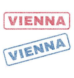 Vienna textile stamps vector