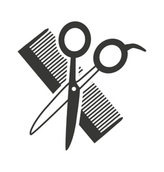 Hairdressing equipment isolated icon vector