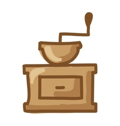 Coffee toaster isolated icon vector