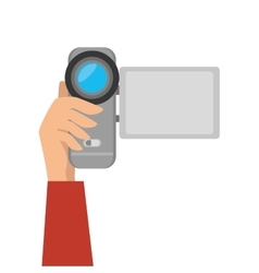 Video camera recording technology device vector