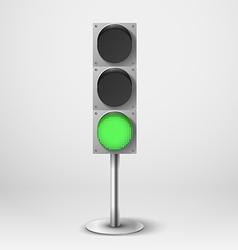 Traffic light green diod traffic light Tem vector image