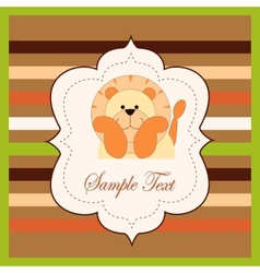 Bright card with a lion vector