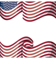Isolated usa flag design vector