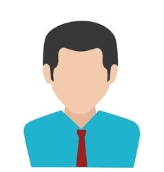 Businessman character avatar isolated vector