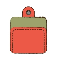 Cartoon wallet money currency safety vector