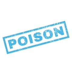 Poison rubber stamp vector