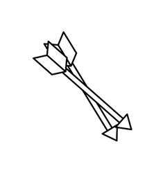 Isolated bow arrows vector