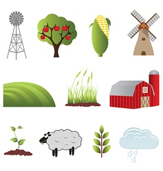 Farm objects vector