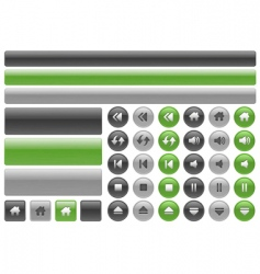 Music web buttons vector