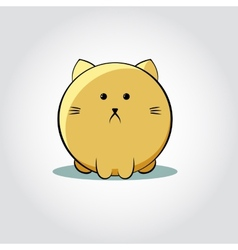 Thick cat face - vector