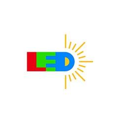 Led technology logo vector