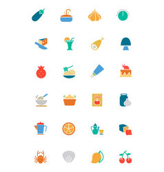 Food and drinks colored icons 10 vector