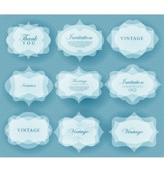 Invitation card in retro style vector