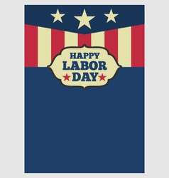 Usa labor day vertical background vector