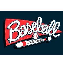 Baseball league childrens banner background vector