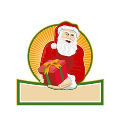 Santa claus bearing gifts vector