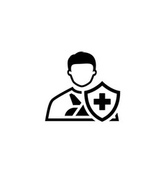 Accident insurance icon flat design vector