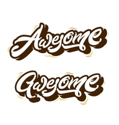Awesome letterings types print vector image