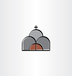 church stylized icon sign vector image