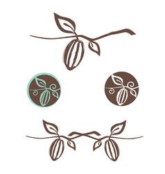 cocoa logo design set vector image vector image