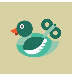 Duck with Wind up Icon vector image