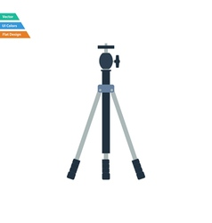 Flat design icon of photo tripod vector image
