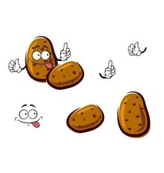 Fresh brown potato cartoon vegetables vector