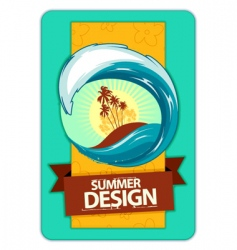 grunge summer poster vector image vector image