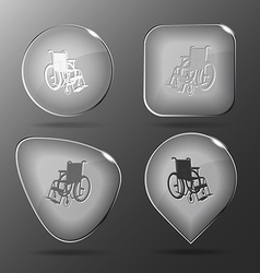 Invalid chair Glass buttons vector image