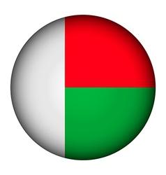 Madagascar flag button vector image vector image
