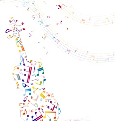 Musical background with violin vector