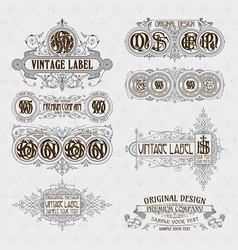 old vintage floral elements vector image