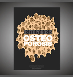 Osteoporosis poster template vector
