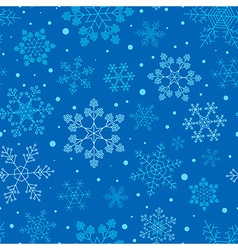 Snowflake seamless pattern Vintage outline version vector image vector image