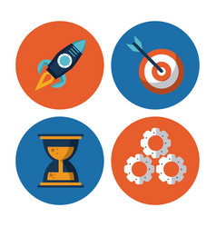 start up business icons vector image