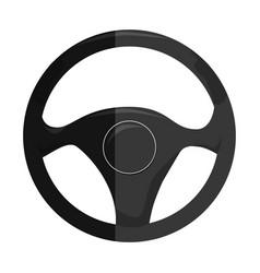 steering wheel car icon vector image