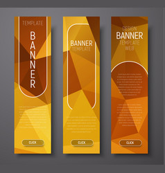 template vertical web banners with polygonal vector image vector image