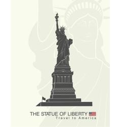 Statue of liberty new york landmark vector