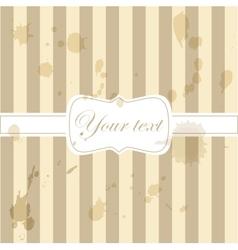 Cute aged retro vintage card invitation vector
