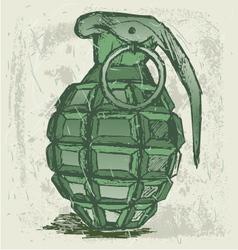 Hand grenade vector image
