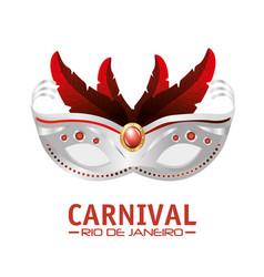 Mask carnival rio de janeiro party vector