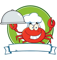 Seafood restaurant cartoon logo vector