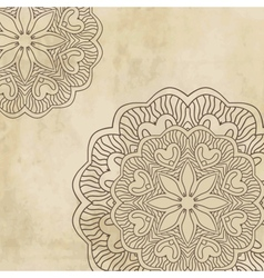 Vintage background with bright colors mandala vector