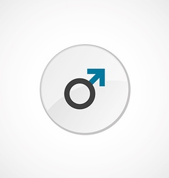 Male sign icon 2 colored vector