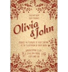 Wedding invitation card invitation card vector