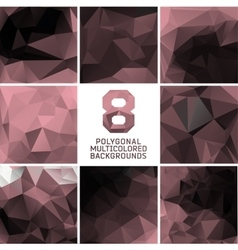 Set of abstract polygonal background vector