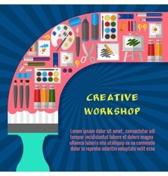 Creative workshop poster template vector