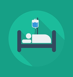 Medical flat icon hospital bed vector